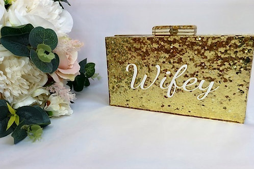 Personalised box clutch (Gold)