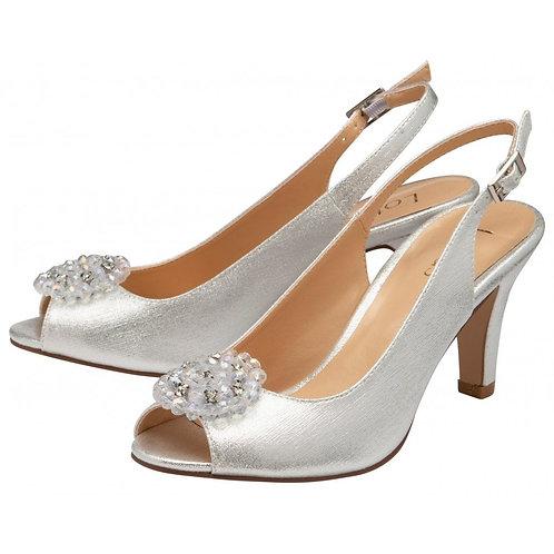 Elodie Sling-Back Shoes Metallic | Lotus