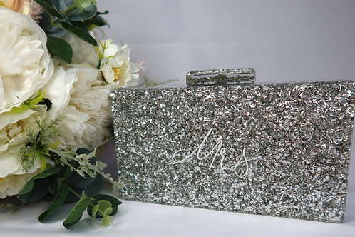 Personalised box clutch (Silver)