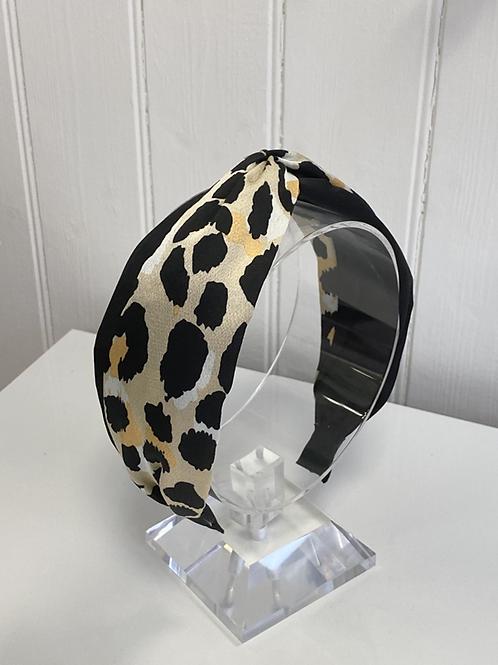 Black and Leopard headband