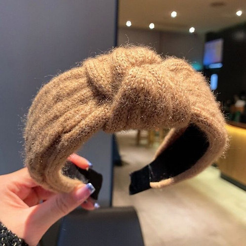 Camel knitted headband