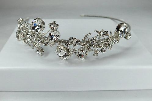 Silver Sparkle Star Side Headband