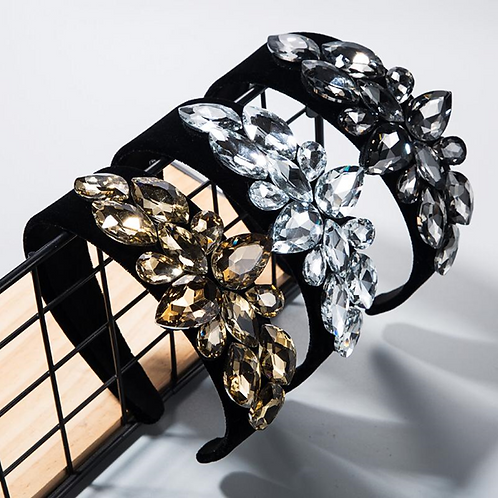 Black velvet Embellished headbands