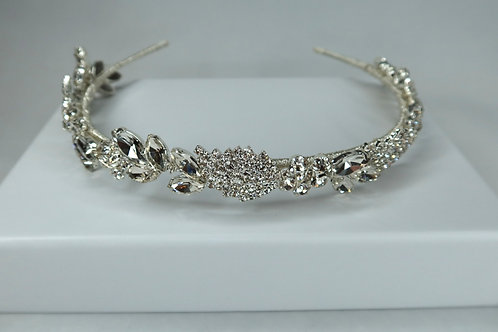 Silver Crystal Detailed Headband
