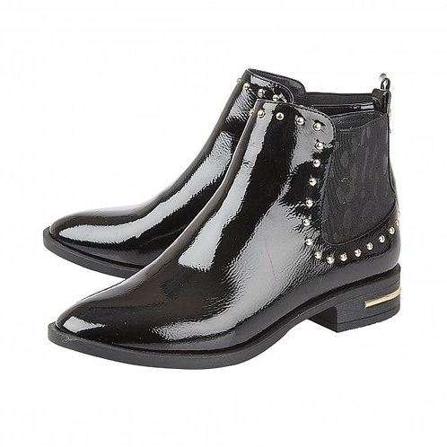 Black Patent Lolita Boot | Lotus