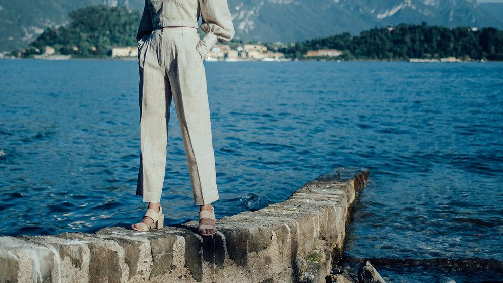 Linen Cuff Trousers