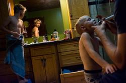 bedtime routine, brushing kids' teeth