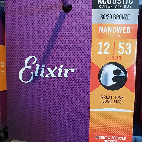 Elixir Nanoweb .012 - .053 bronze