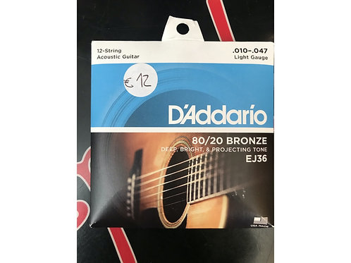 D'Addario 12 corde .010 - .047 bronze