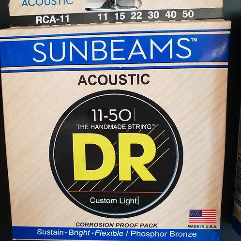 DR Sunbeams Custom Light .011 - .050