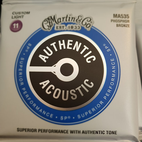 Martin Authentic Acoustic .011 phosphor bronze