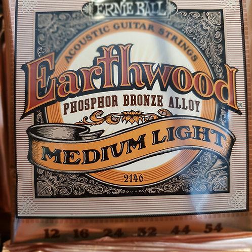 Ernie Ball Earthwood Medium Light .012 phosphor bronze