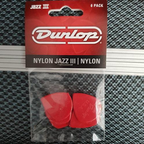 Dunlop Nylon jazz III 6 pack