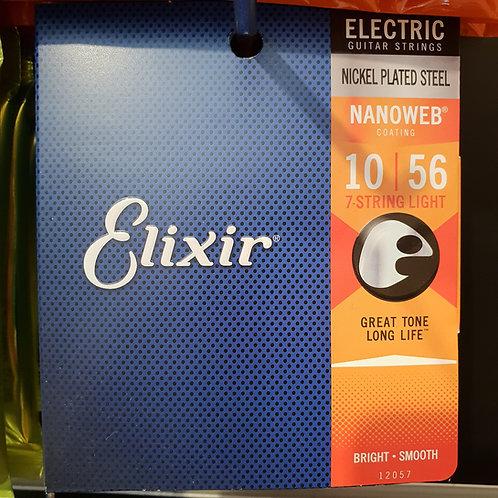 Elixir 10-56 Nanoweb per chitarra 7 corde