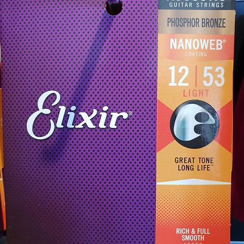 Elixir Nanowb .012 - .053 phosphor bronze