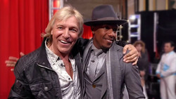 Dan Meyer and Nick Cannon backstage