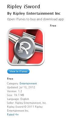 FREE Ripley iSword App, featuring Dan Meyer! FREE