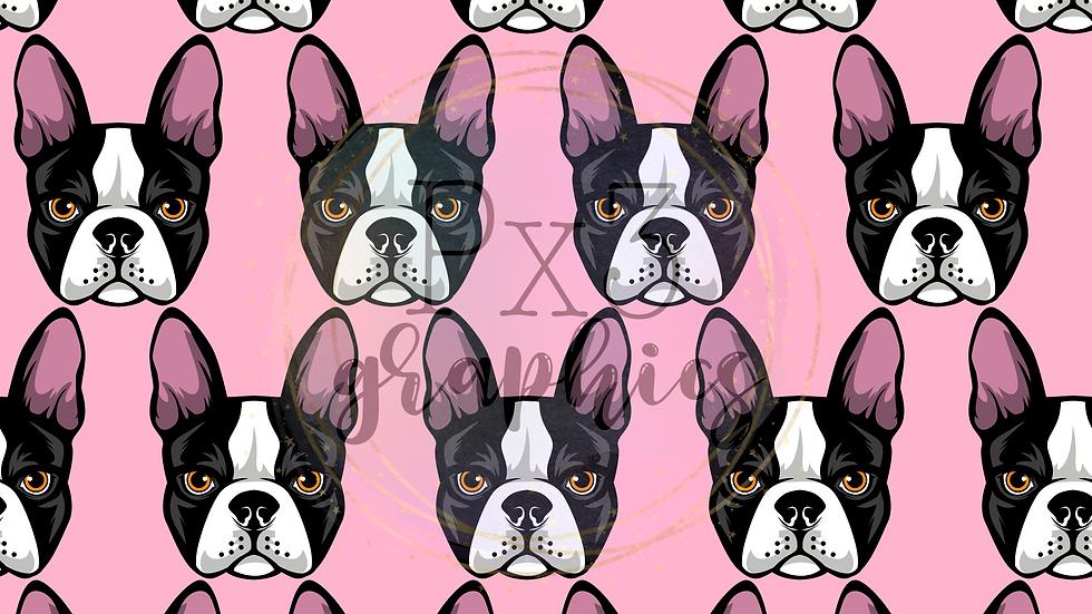Boston Terrier - pink