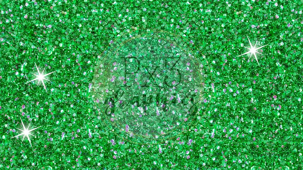 Chunky apple green glitter