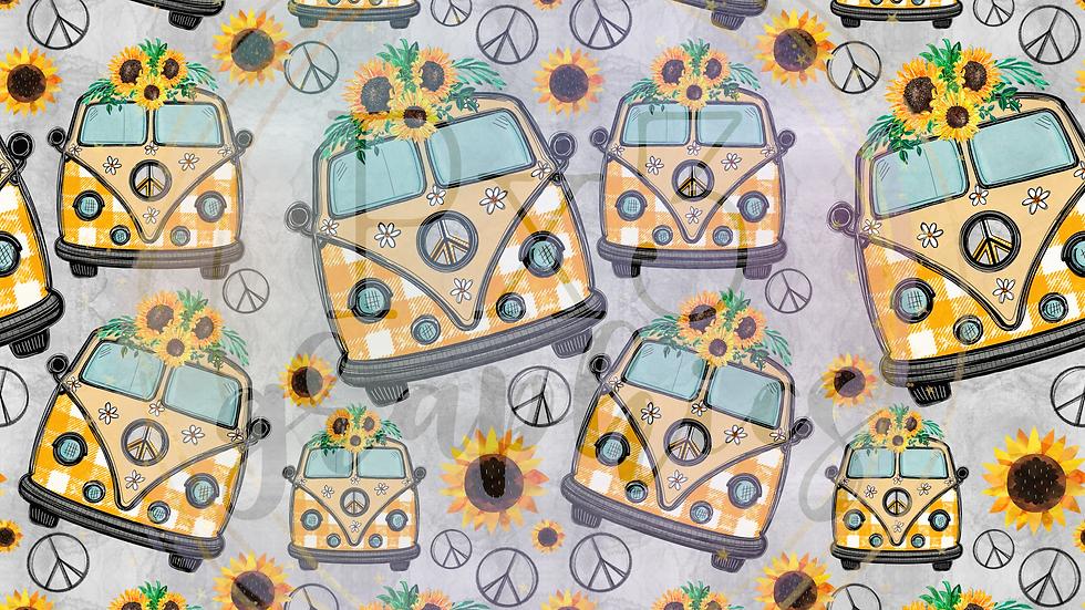 Fall hippie van grey