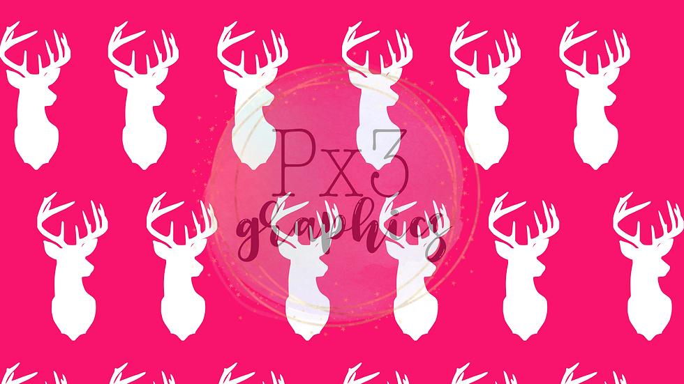 Deer head - bright pink