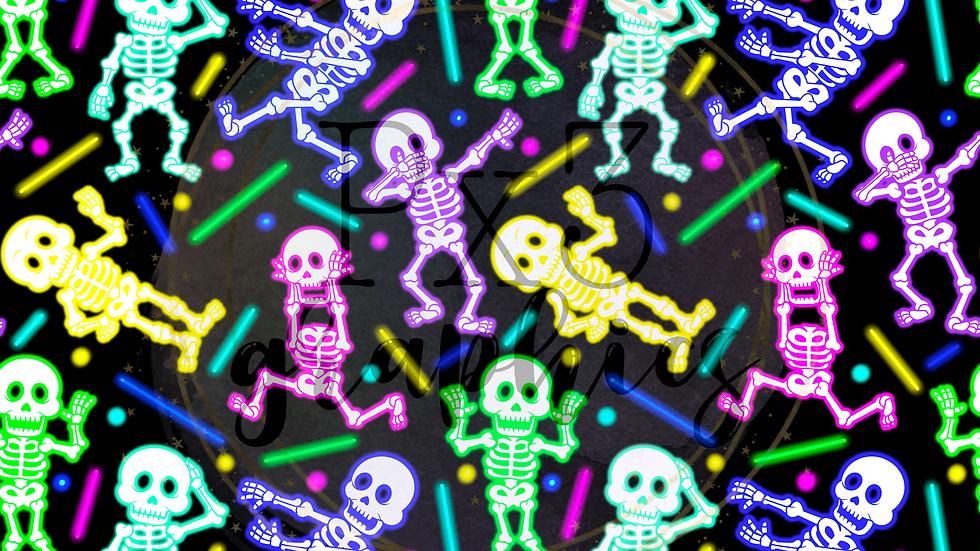 Neon skeletons