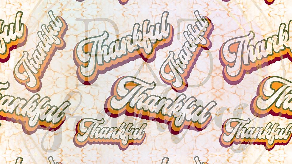 Retro thankful