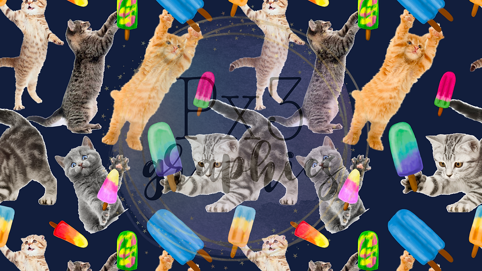 Kitties with popsicles