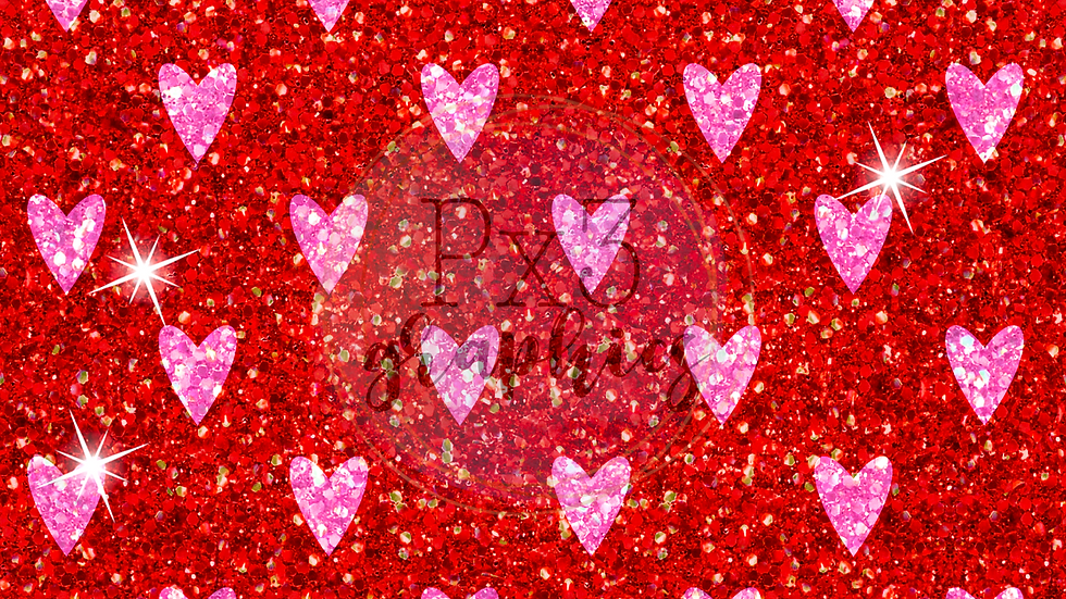 Valentine's Day chunky glitter 1