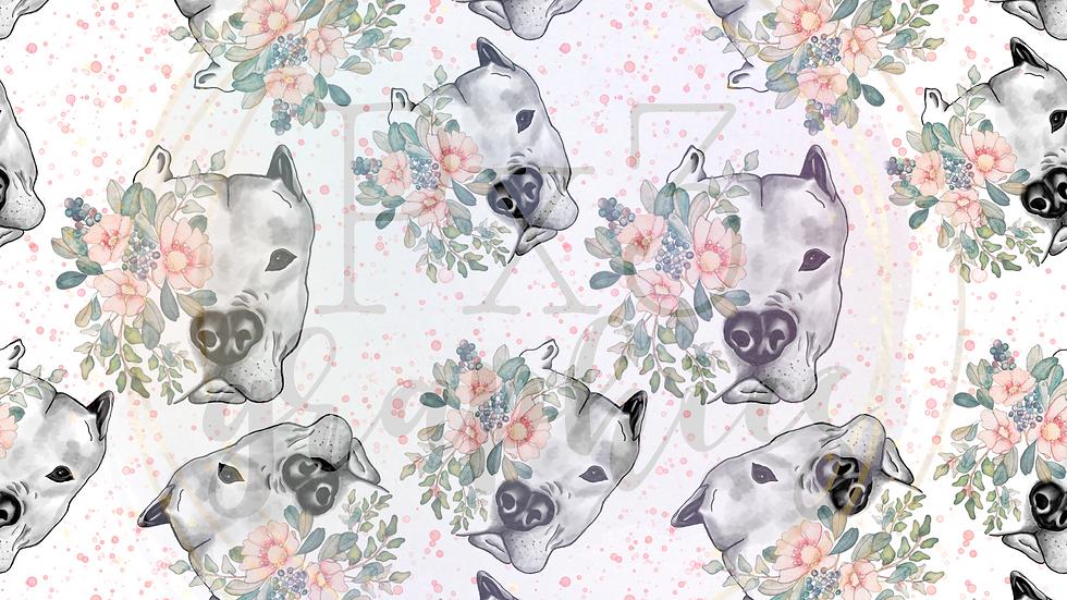 Floral pitbull
