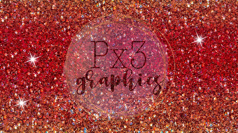 Chunky red & gold glitter