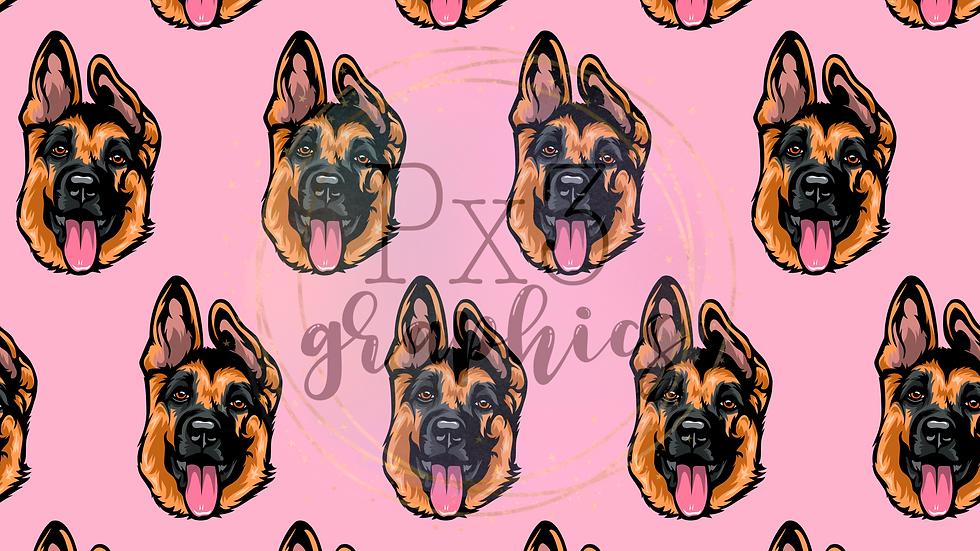 German Shepherd - pink