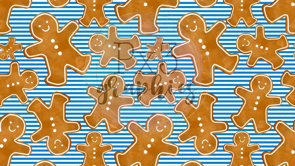 Blue gingerbread