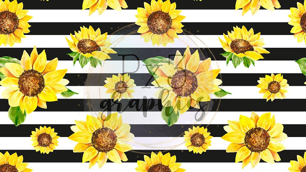 Sunflowers - big stripes