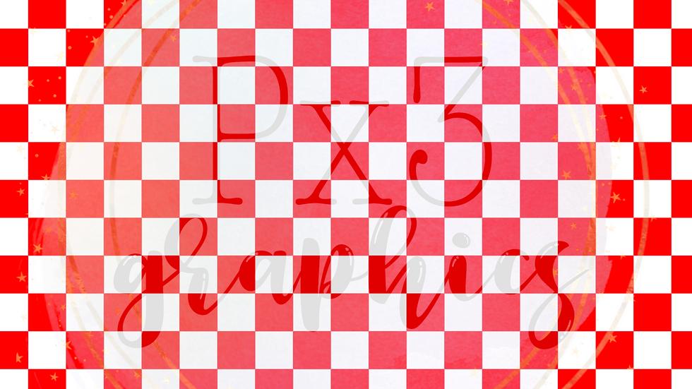 Red & white checkered