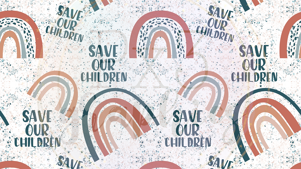 Save our children rainbows