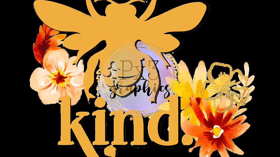 Be kind floral PNG