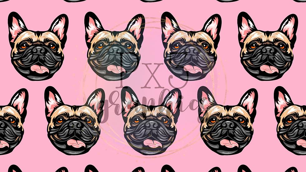 French bulldog - pink