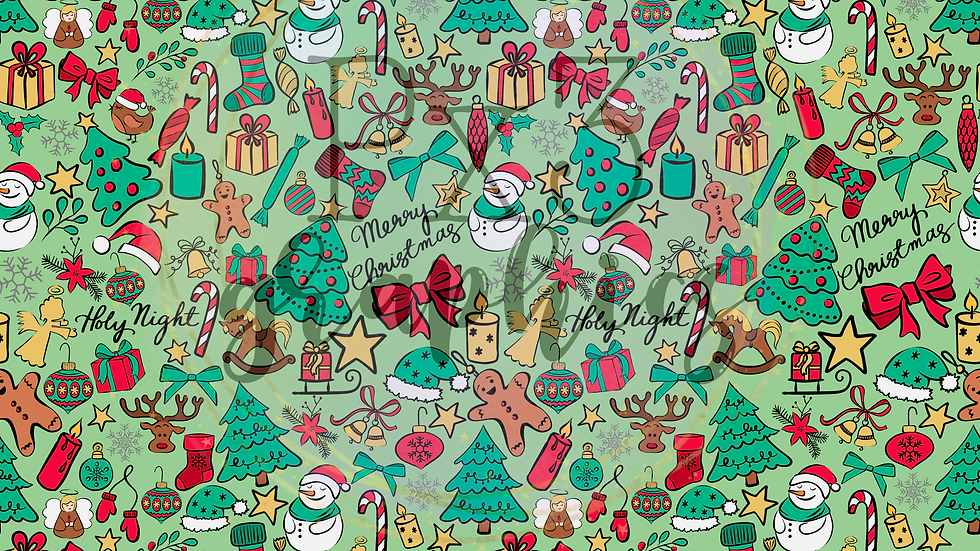 Christmas doodles - green