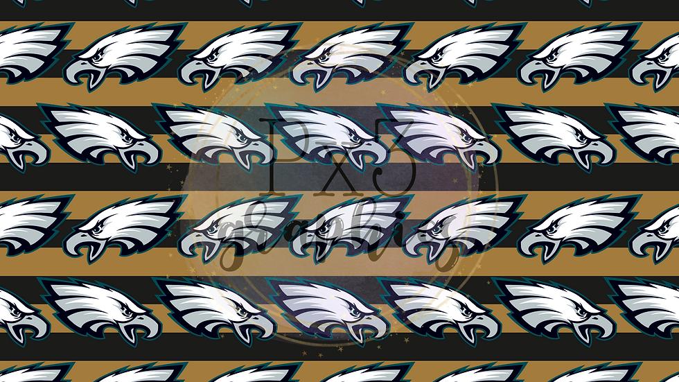 Eagles - black & gold stripes