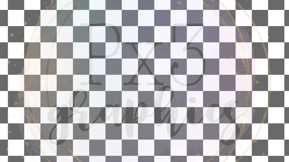 Dark grey & white checkered