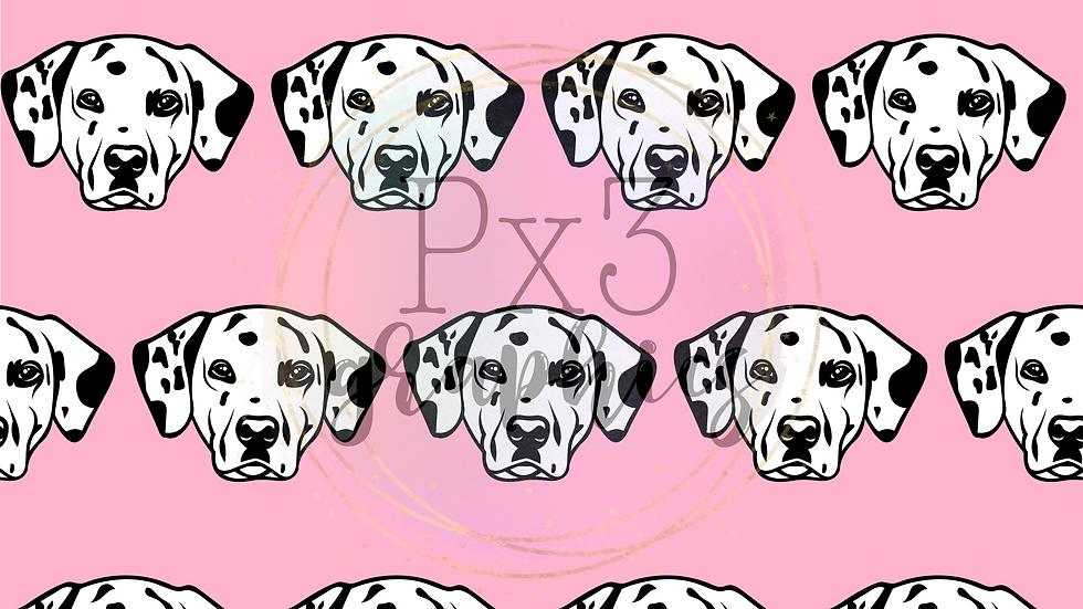 Dalmatian - pink