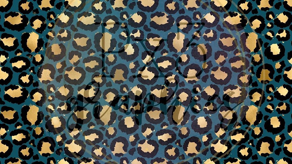 Dark teal leopard