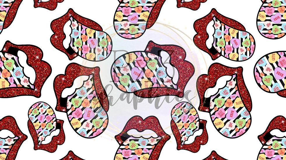 Valentine's Day tongues - white