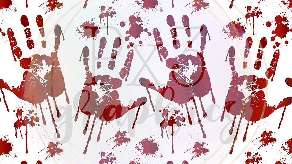 Blood splatter on white