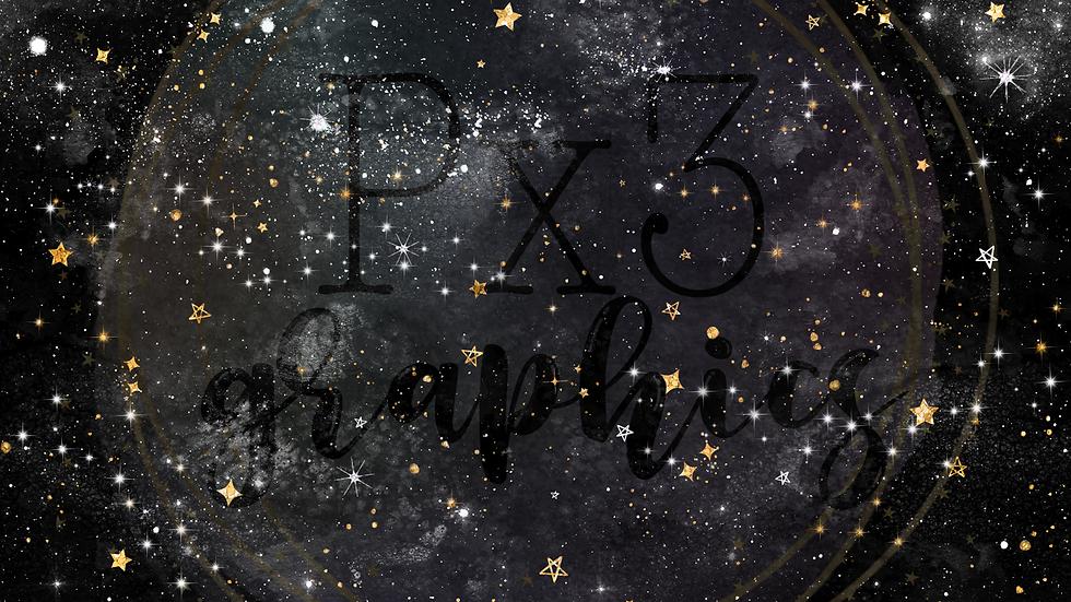 Moon & stars 1