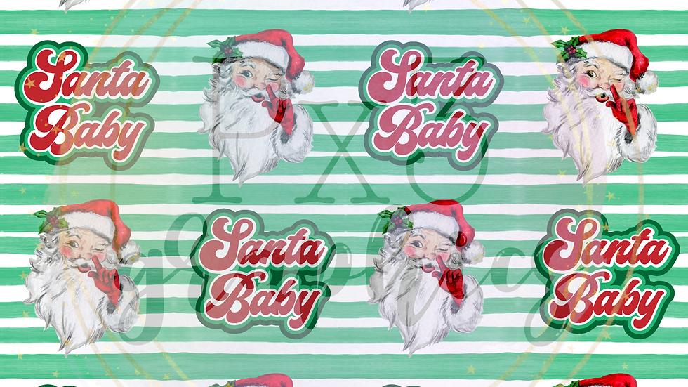 Santa baby stripes