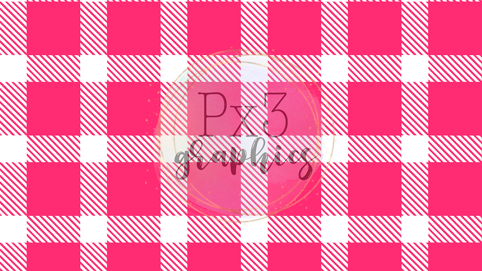 Pink & white plaid