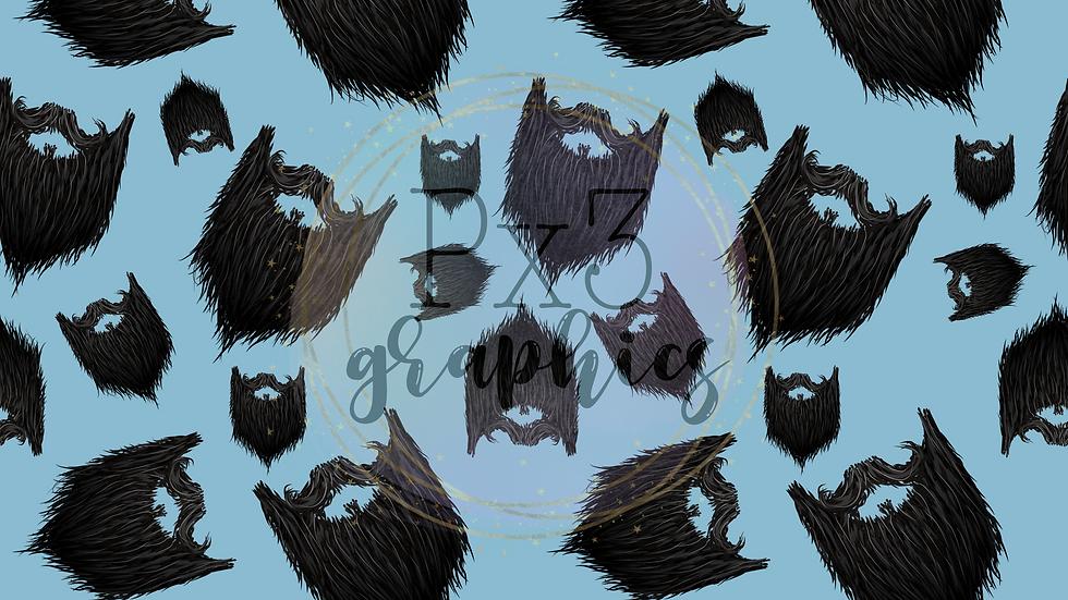 Beards - blue