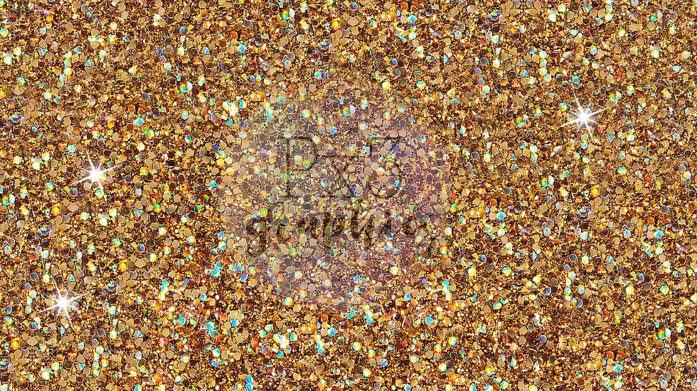 Chunky gold glitter